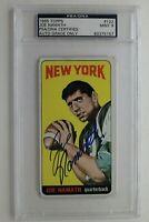 Joe Namath Autographed 1965 Topps #122 Signed Rookie Card PSA 9