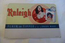 VINTAGE RALEIGH CIGARETTE COUNTER DISPLAY PIN UP GIRL