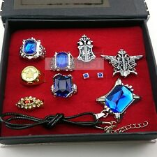 Black Butler Ring Necklace Earrings  Brooch set Cosplay Accessories