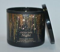 NEW BATH & BODY WORKS INTO THE NIGHT SCENTED CANDLE 3 WICK 14.5OZ LARGE BLACK
