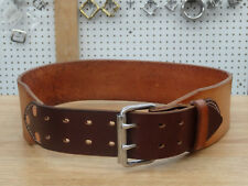 "Leather Tool Belt 3"" Framing Carpenter Electrician Construction Heavy Duty"