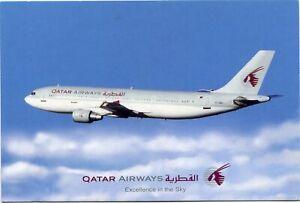 QATAR AIRWAYS - AIRBUS A300 - AIRLINE ISSUE POSTCARD