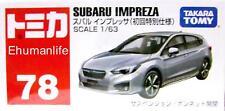 78 Takara Tomy Tomica Scales 1/63 Subaru Impreza 1st Diecast Car Toy GREY
