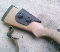 Adjustable Kydex Cheek Rest Cheek Riser - Custom Molded - Bear Paw Right Handed