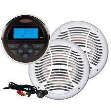 Jensen Marine 160 Watt AM/FM Stereo, Speakers, & Jack Package CPM100 Brand New