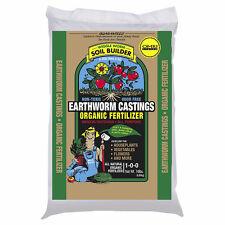 Organic Earthworm Castings 15 lbs worm fertilizer nitrogen growth veg compost