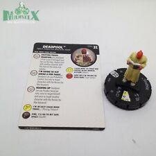 Heroclix Deadpool & X-Force set Deadpool #034c Rare figure w/card!