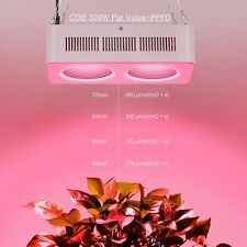 2 holes Full Spectrum 300W COB LED Grow Light Lamp For Indoor Plant Growth Bloom