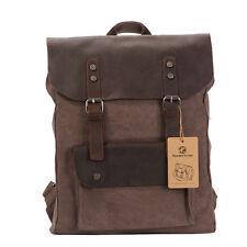 Unisex Retro Vintage Canvas school backpack Rucksack Satchel Travel Hiking Bag