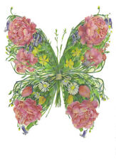 PAGAN WICCAN FINE ART GREETING CARDS Butterfly BIRTHDAY BLANK DM COLLECTION
