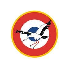 Sticker plastifié ESCADRILLE DES CIGOGNES - Armée de l'Air - 6cm x 6cm