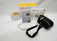 Kodak Easy Share Camera M893IS Blue 8.1 Mega Pixel w/Instruction Book, CD, Case.