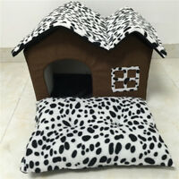 Pet Dog House Cage Bed Kennel Puppy Indoor Cat Cabin Cushion Mat Washable Pad