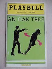 October 2006 - Barrow Street Theatre Playbill with Ticket - An Oak Tree