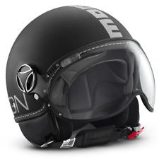 Casco Jet MOMO Fighter Nero opaco Decal Argento varie Taglie M