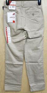 Izod Boys Pants Size 14 Slim Flat Front Tan khaki Beige NWT NEW School Uniform