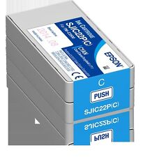 Epson C33S020602 Druckerpatrone Tinte Colorworks TM-C3500 Cyan SJIC22P(C)