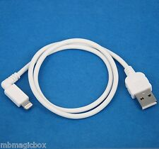 0.5m 1.5ft Fast Charger ONLY Right Angle USB cable WHITE for iPhone 5s 5c 5