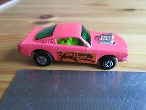 Matchbox Superfast #8 - Wildcat Dragster. Pink. Ford Mustang