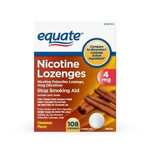 Equate Nicotine Polacrilex Lozenge, 4 mg, Cinnamon Flavor, 108 Count