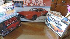 Dukes Of Hazzard Dodge Charger General Lee 3 New Model Kits Sealed 1/25 1/16