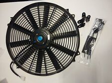 """2pcs Universal 16"""" inch 12V Reversible Electric Cooling Thermo Fan +Mounting Kit"""