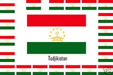 Assortiment lot 25 autocollants Vinyle stickers drapeau Tadjikistan-Tajikistan