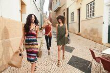 Athleta Havana Midi Dress Multicolor Serape Stripe XS
