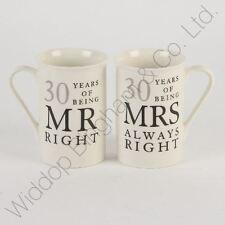 30th Pearl Wedding Anniversary Mugs Gift Set WG822
