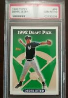 DEREK JETER PSA 10 1993 Topps Draft Pick Rookie card #98 RC Gem Mint Yankees HOF