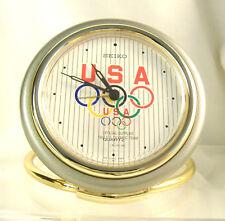 Seiko Quartz Travel Alarm Clock with Olympic Rings, Olympics FanGear, QQQ184G