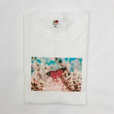 Butterfly Insect Colourful Kawaii Amazing Nature Print T-Shirt White Black