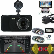 "1080P 4"" Dual Lens Car Dash Cam Front and Rear Camera Dashboard DVR Recorder CA"