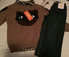 Gymboree Woodland Party Raccoon Boys Outfit Size 2T Nwt