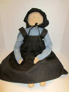 """Vintage Charming Country Amish Large stuffed toy doll 25"""" Rare"""