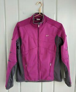 Nike Sphere Thermal Jacket Womens Medium 8 10 Full Zip Purple Running Thumbholes