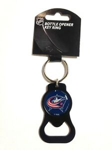 COLUMBUS BLUE JACKETS - BOTTLE OPENER KEYCHAIN - BRAND NEW - NHL-BK-702-30-BK