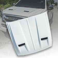 WHITE BONNET HOOD SCOOP TRIM COVER FIT ISUZU DMAX D-MAX BLADE 2015-2019