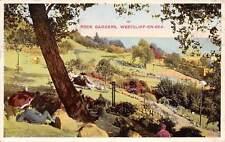 Westcliff-on-Sea, Rock Gardens, under umbrella, landscape 1938