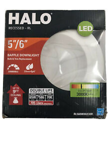 5 in. and 6'' 3000K White Integrated LED Recessed Ceiling Light Fixture by HALO