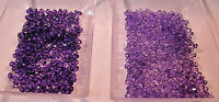 90g FACETED BICONE BEADS 3mm ACRYLIC TRANSLUCENT PURPLE VARIETIES 8000 BEADS