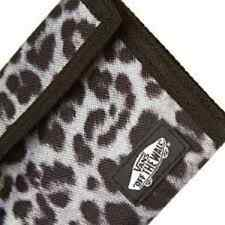 Brand NewVans Off The Wall Solicit Tri Fold Wallet Womens Black Snow Leopard