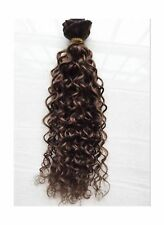 Deep Curl Deep Wave Brown Brazilian Clip in Hair Extensions 100% Remy Human H...