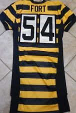 PITTSBURGH STEELERS TEAM ISSUED STEELERS BUMBLE BEE JERSEY LJ FORT 2012 NIKE