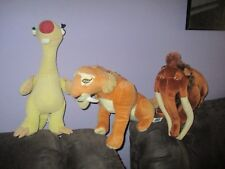 Ice Age 4 Continental Drift 3 large soft plush toys, MANNY,DIEAGO & SID
