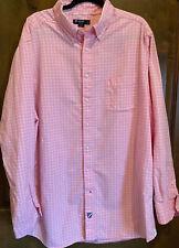 Cremieux Premium Denim Pink Multicolor Stripe L//S Button-Down Shirt NWT