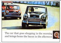 Mini Cooper Mk1 - Modern postcard by Vintage Ad Gallery