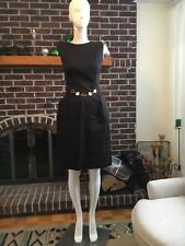 Sharagano Brown Office Waist Buckle Jewelry Dress Size 6