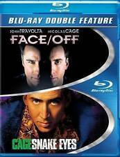 New! Face Off + Snake Eyes Blu-ray 2 Disc Double Feature - Nic Cage Travolta