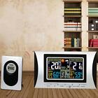 Digital LCD Wireless Weather Station Alarm Clock TemperatureandHumidityMeter